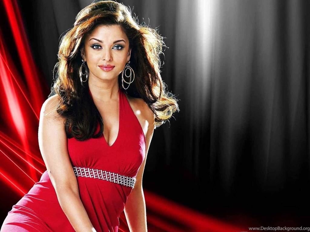 Aishwarya Rai Red Saree Hot Hd Wallpapers Desktop Background