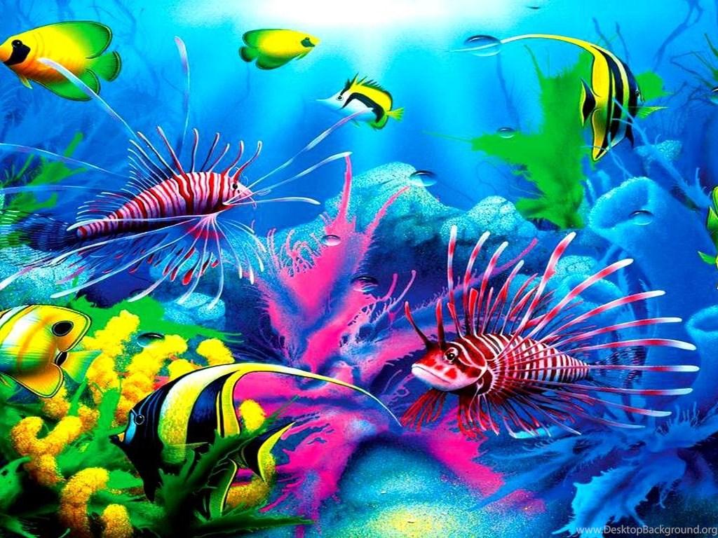 Animals Wallpaper 3d Hd 2 0 Apk Download: Fish: Tropical Lionfish Ocen Fish Plants Coral Free