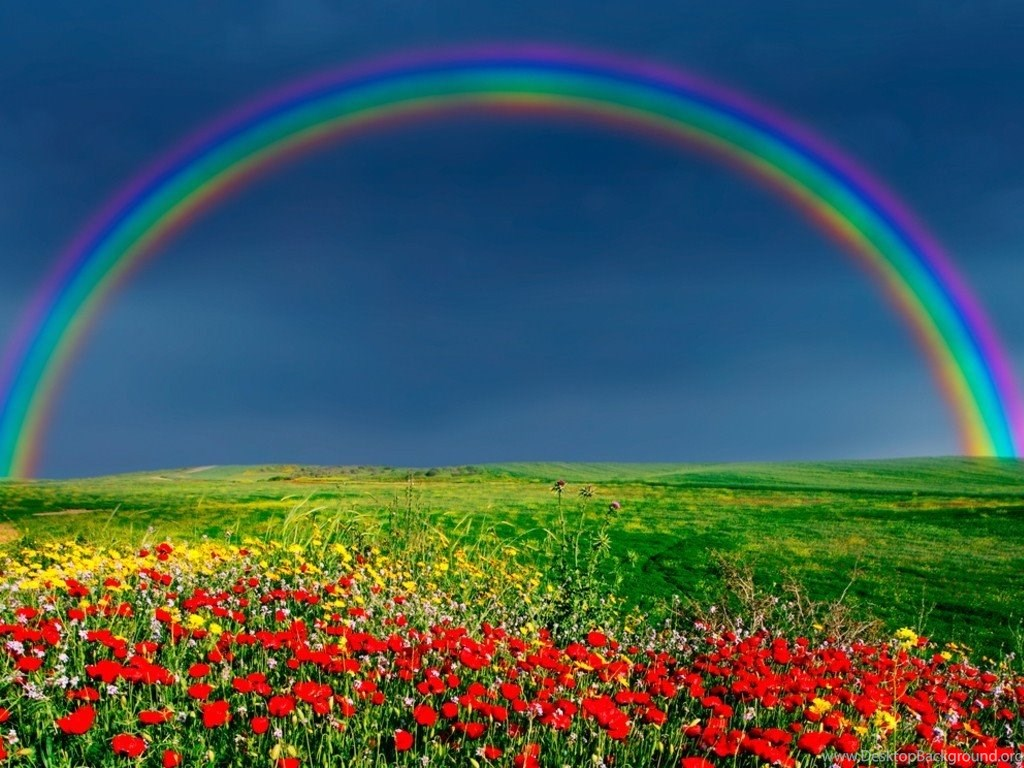 Nature Wallpapers Rainbow On Sky Wallpapers Desktop Background