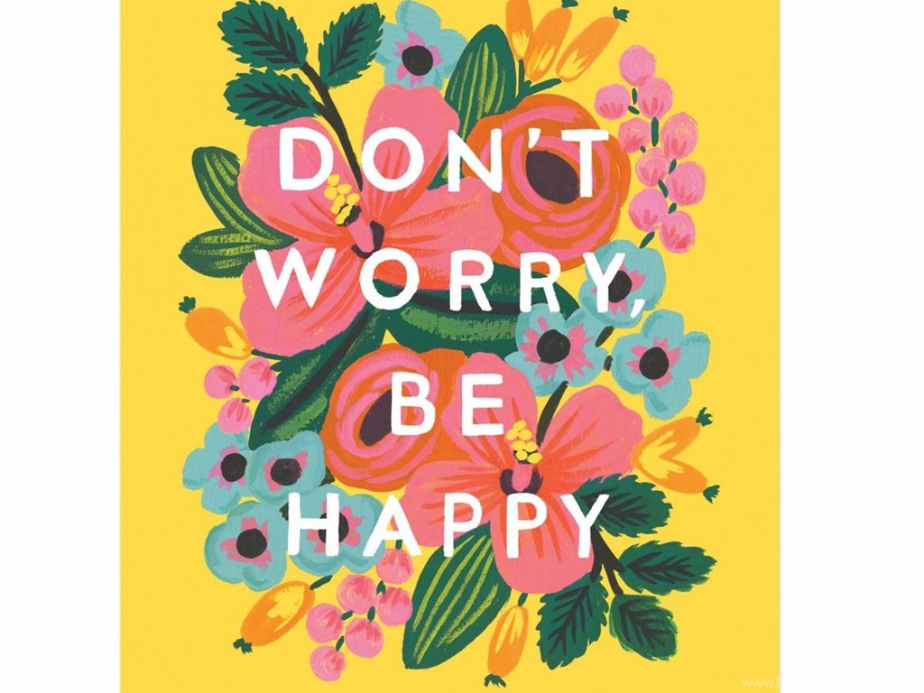 1050296 dont worry be happy art print by rifle paper