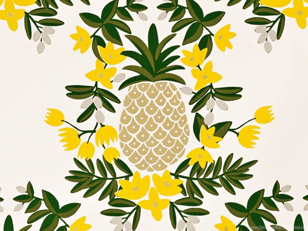 Pineapple (Yellow) Wallpapers By RIFLE PAPER Co. Desktop