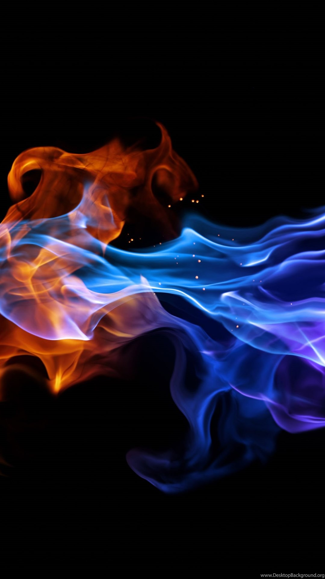 blue fire wallpapers desktop background
