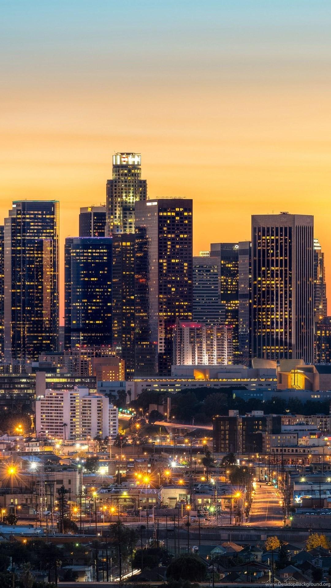 Los Angeles Skyline Hd Ipad Wallpapers Desktop Background