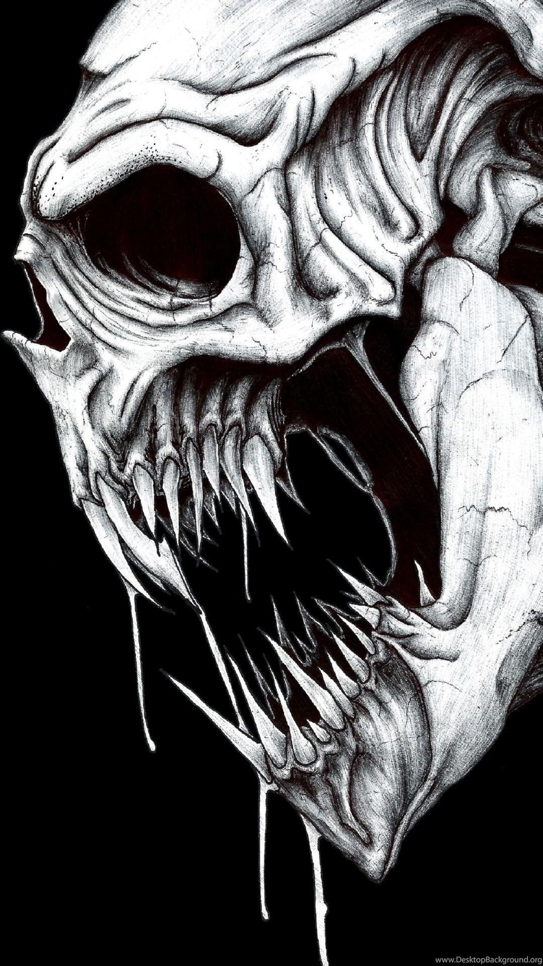IPhone 6S Plus Dark Skull Wallpapers ID 91001 Desktop Background