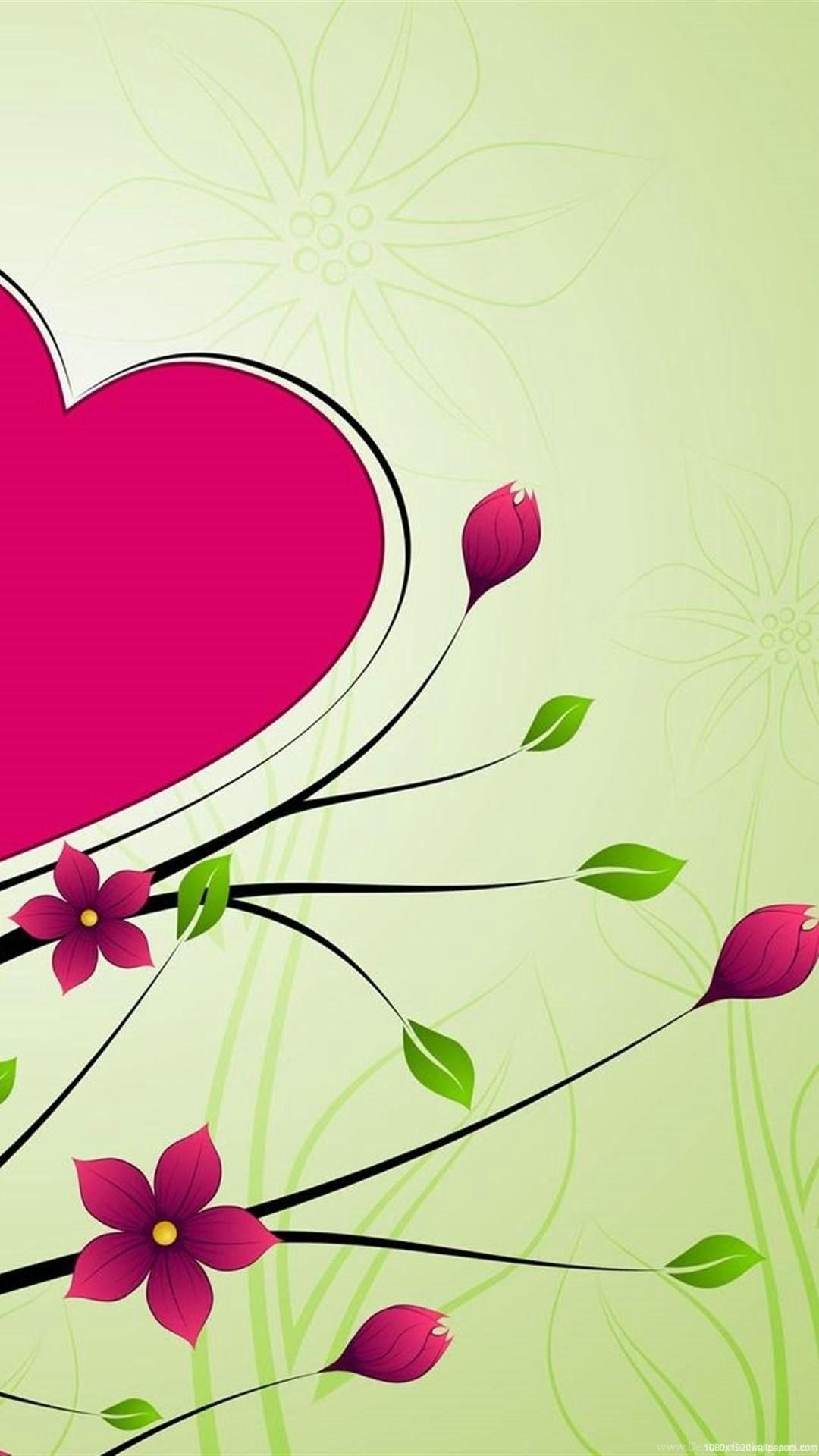 1080x1920 Rose Love Heart Flowers Design Wallpapers Hd Desktop