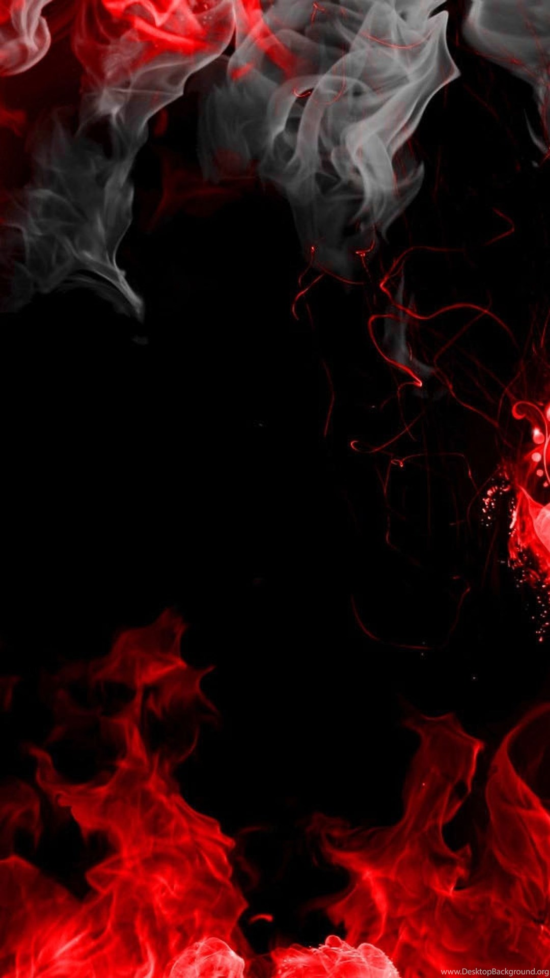 Download Wallpapers 3840x2160 Abstraction, Red, Smoke ...
