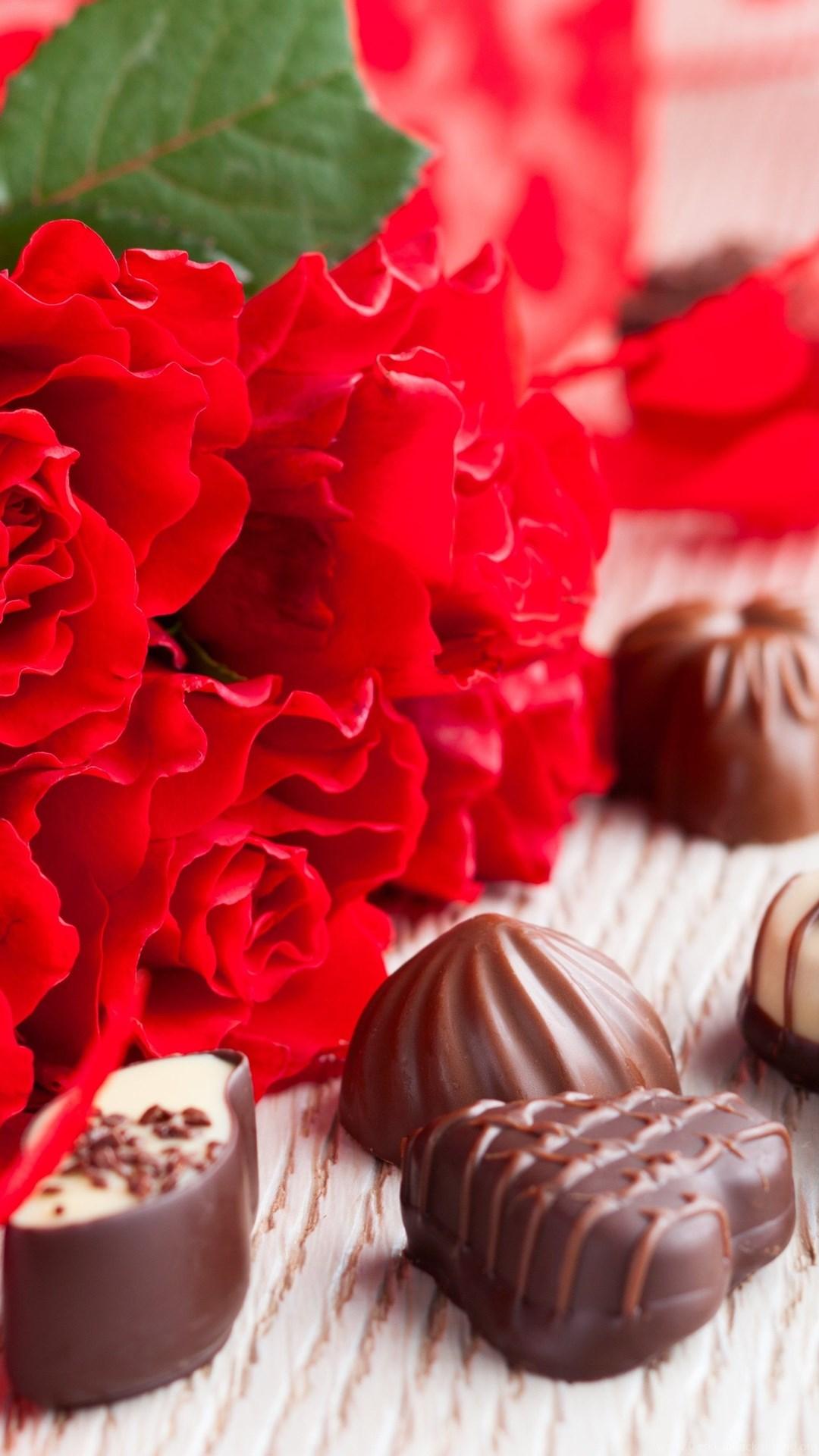 Rose Flowers Love Life Chocolate Presents Wallpapers Desktop Background