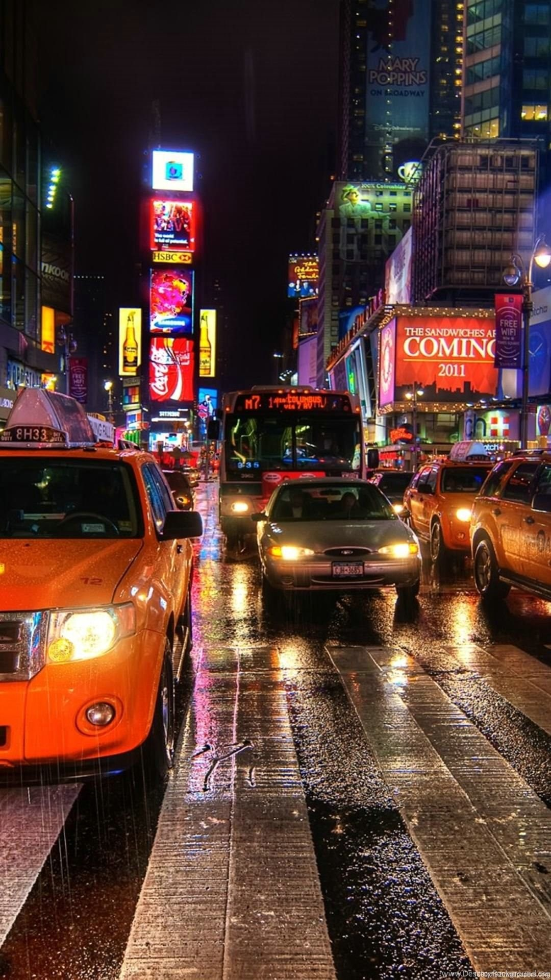 1080x1920 City Night New York Wallpapers Hd Desktop Background