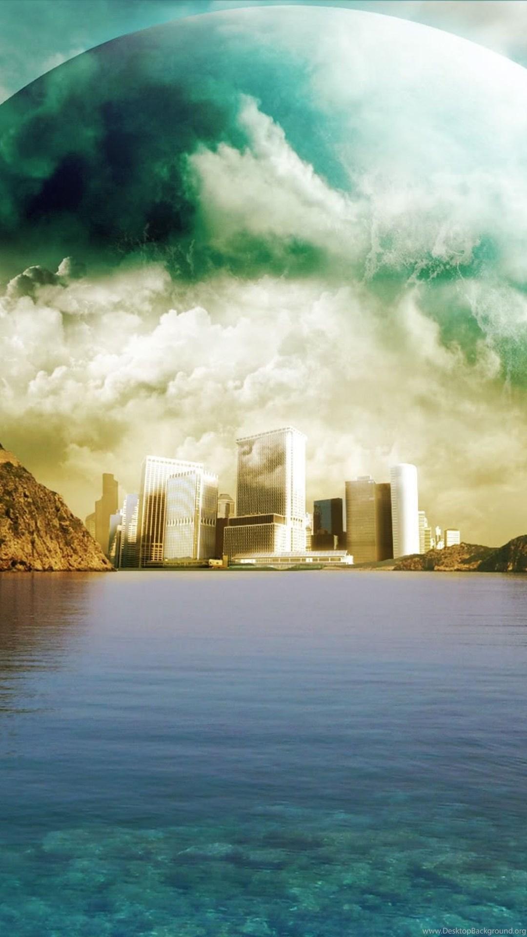 Futuristic Extraterrestrial City Ipad 3 4 Air Wallpapers Desktop