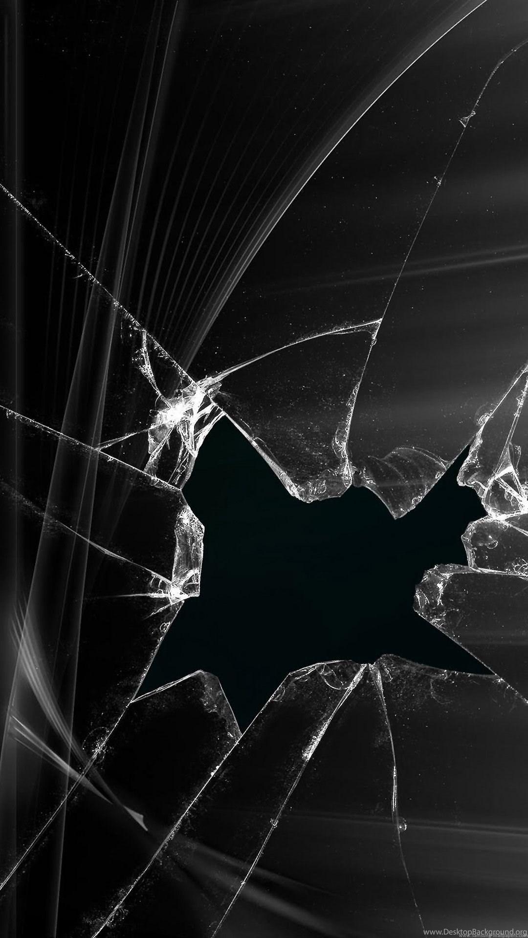 Broken Phone Screen Black Iphone 6 Plus 1080x1920 Wallpaper Jpg Desktop Background