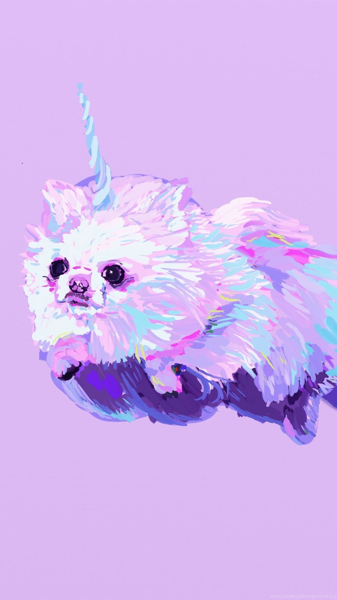 Pomeranian Dog Dogs Fantasy Unicorn Wallpapers Desktop