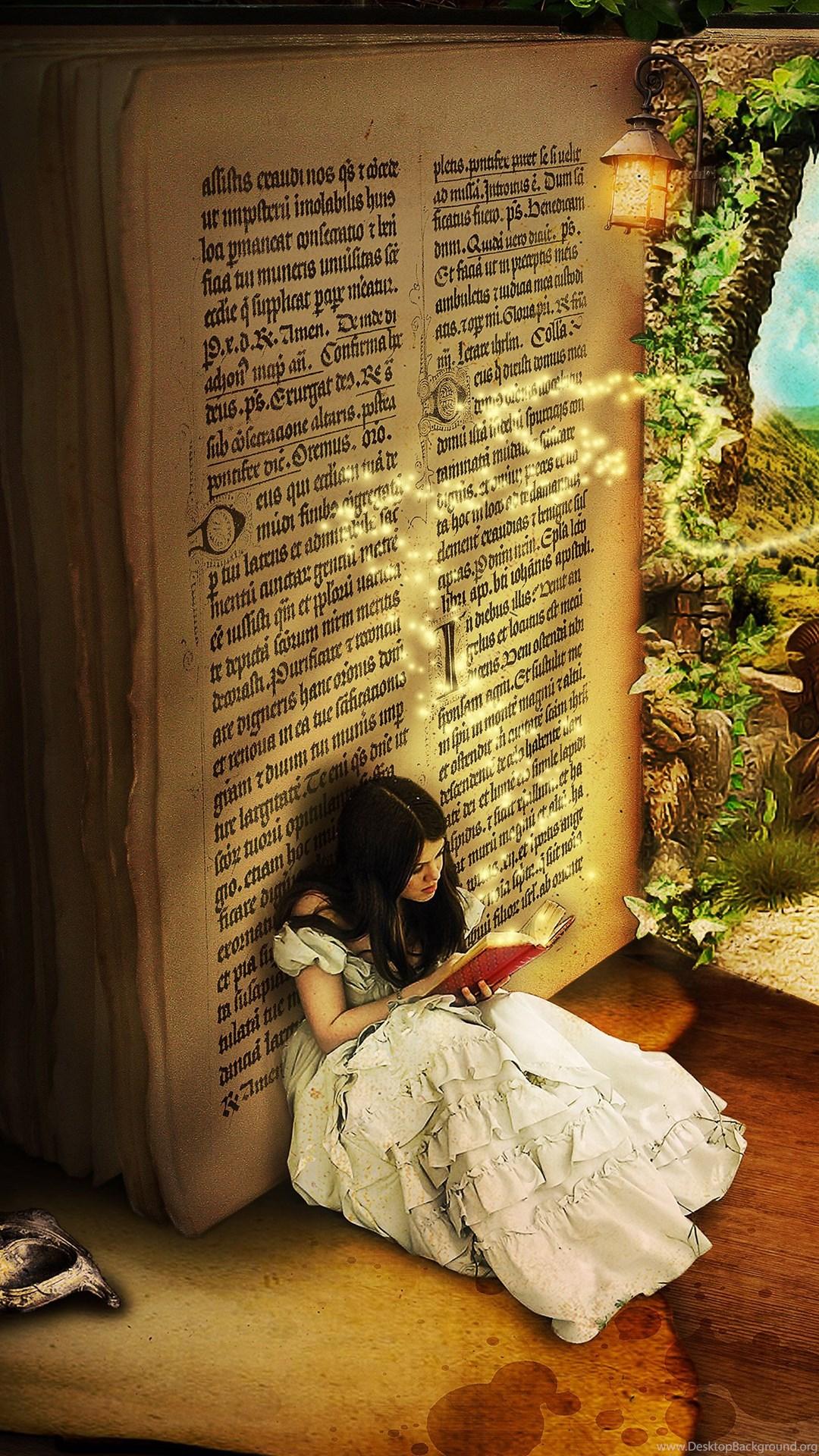 Girl Reading Fairy Tales Widescreen Wallpapers Desktop Background