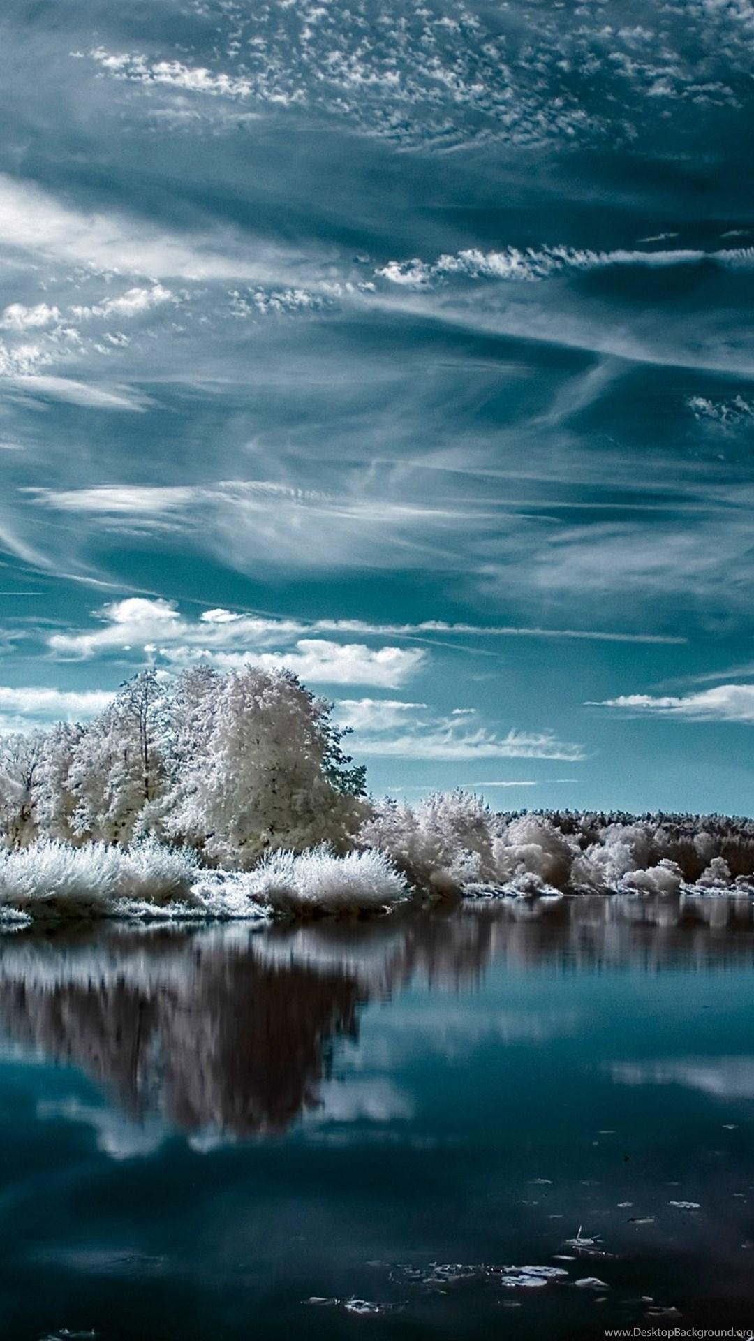 Download Wallpapers 3840x2160 Nature Lake Winter Snow 4k Ultra Desktop Background