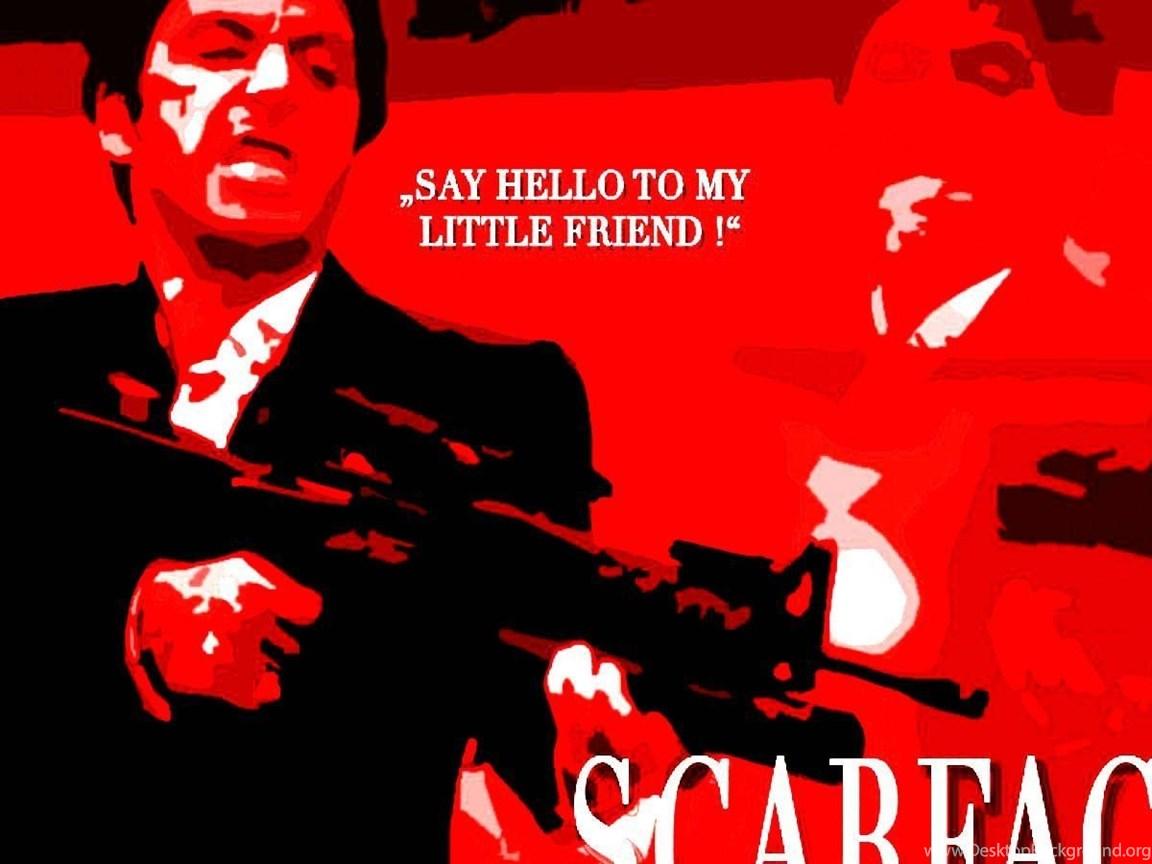Scarface Crime Drama Movie Film Poster Weapon Gun Dark Wallpapers