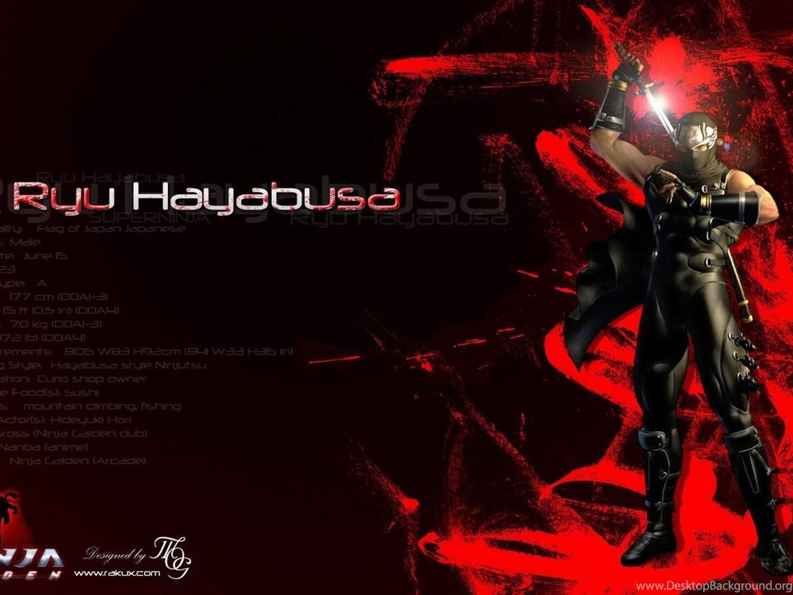 Ninja Gaiden Ryu Hayabusa By Rakux On Deviantart Desktop Background