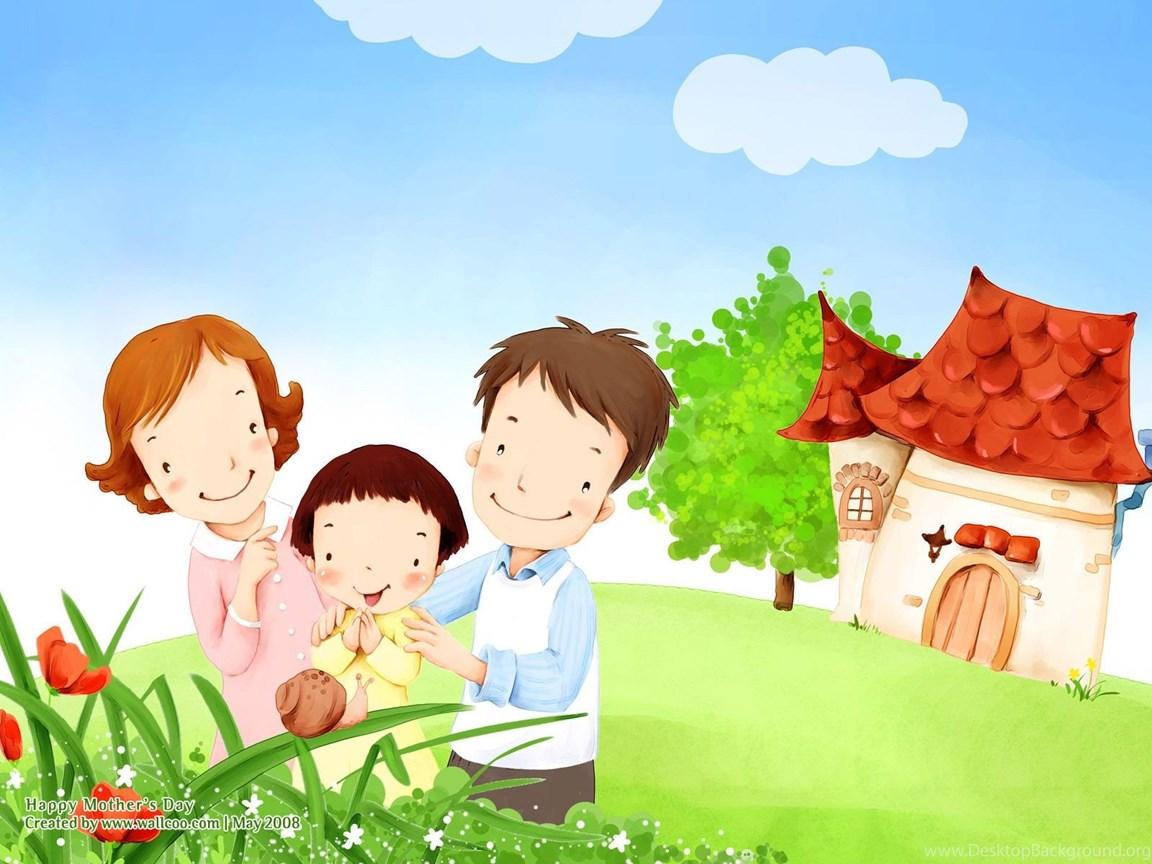 High Resolution Cartoon Illustraion Of Family Love 20x20 NO.20 ...