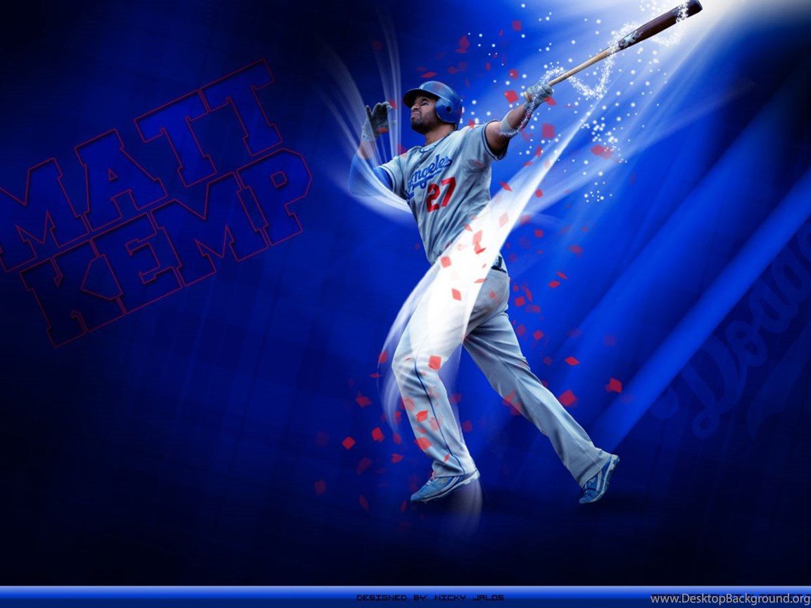 Los Angeles Dodgers Wallpapers A Logo A 1366a 768 Desktop Background
