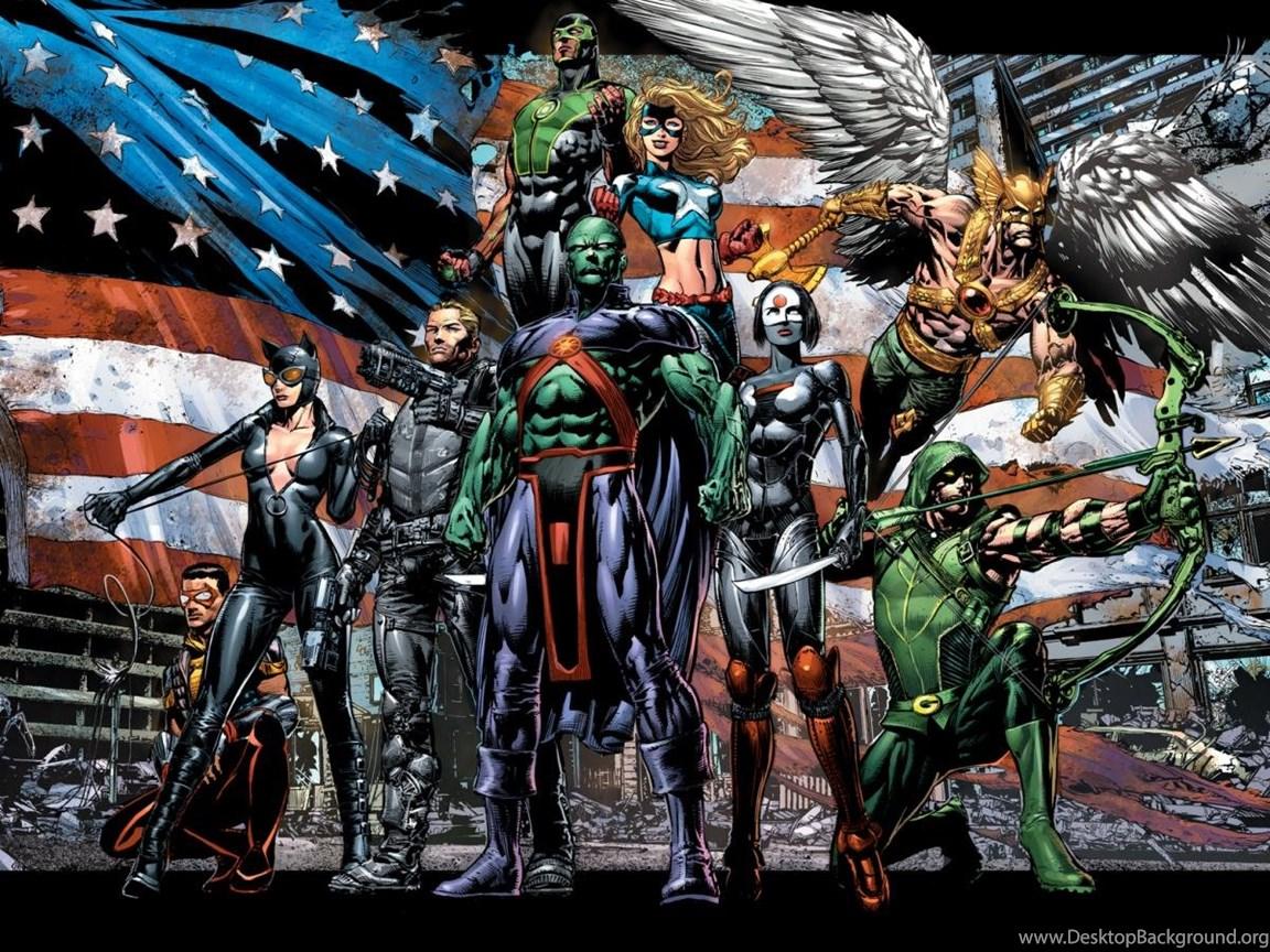 New 52 Justice League Symbol Desktop Background