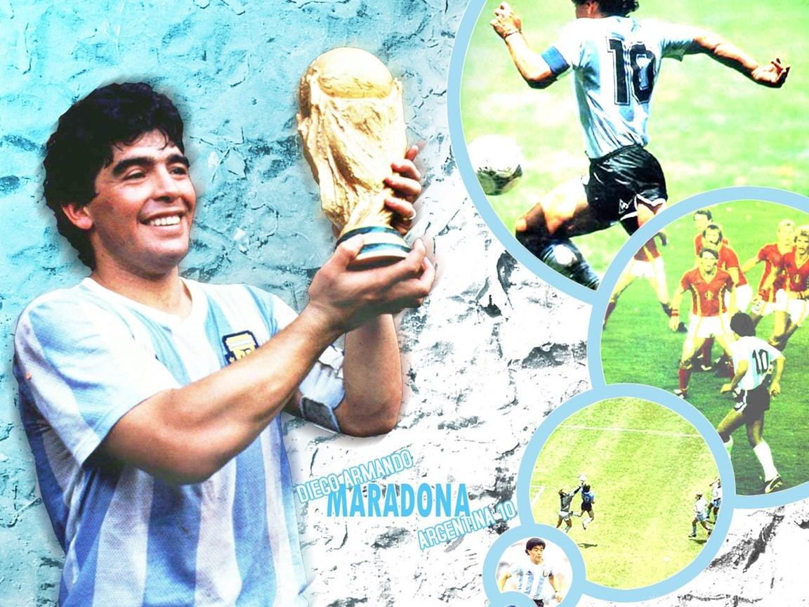 Football Legends Diego Maradona Wallpapers In Hd Desktop Background