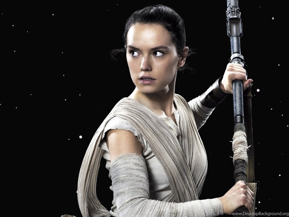 Daisy Ridley Rey Star Wars The Force Awakens Wallpapers Desktop