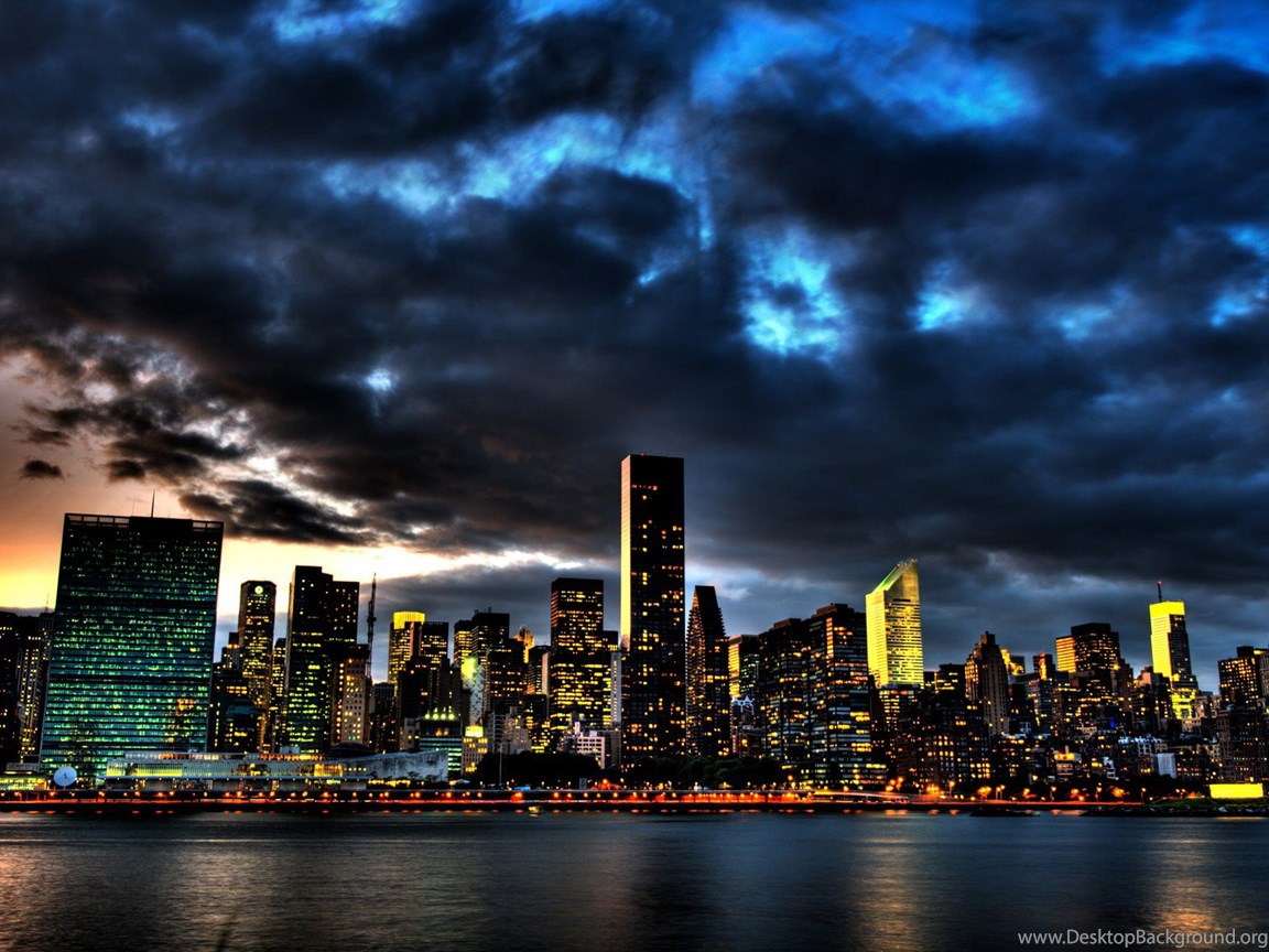 High Resolution New York Skyline At Night Wallpapers Hd 5 City