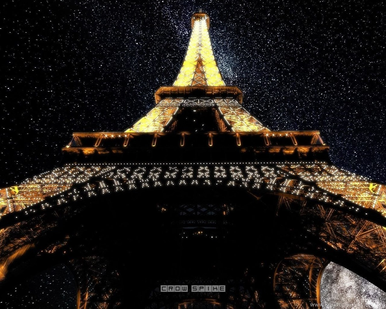 Paris Eiffel Tower At Night Hd Wallpapers Fullhdwpp Full Hd Desktop Background