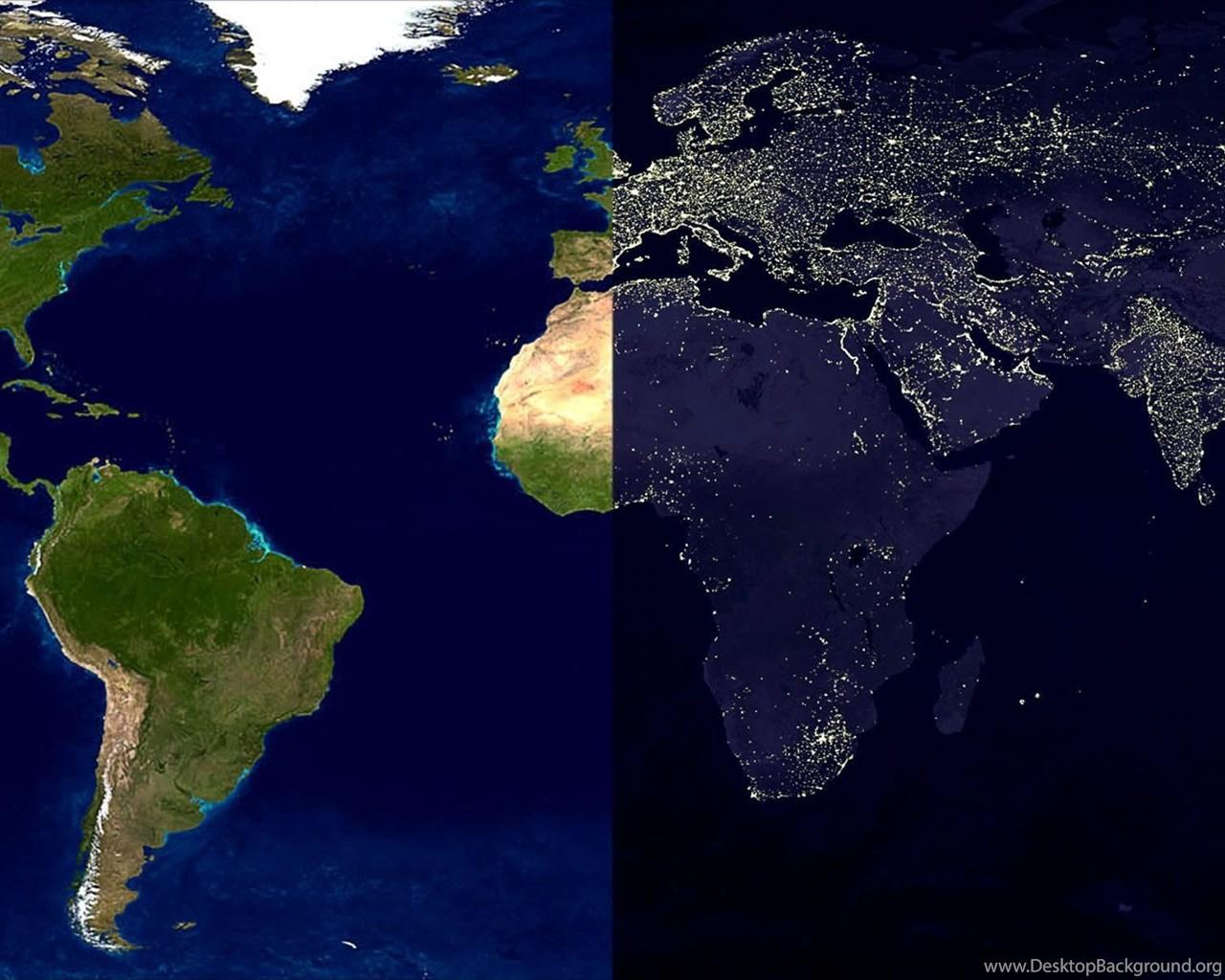 Maps daylight world map nighttime wallpapers desktop background widescreen gumiabroncs Images