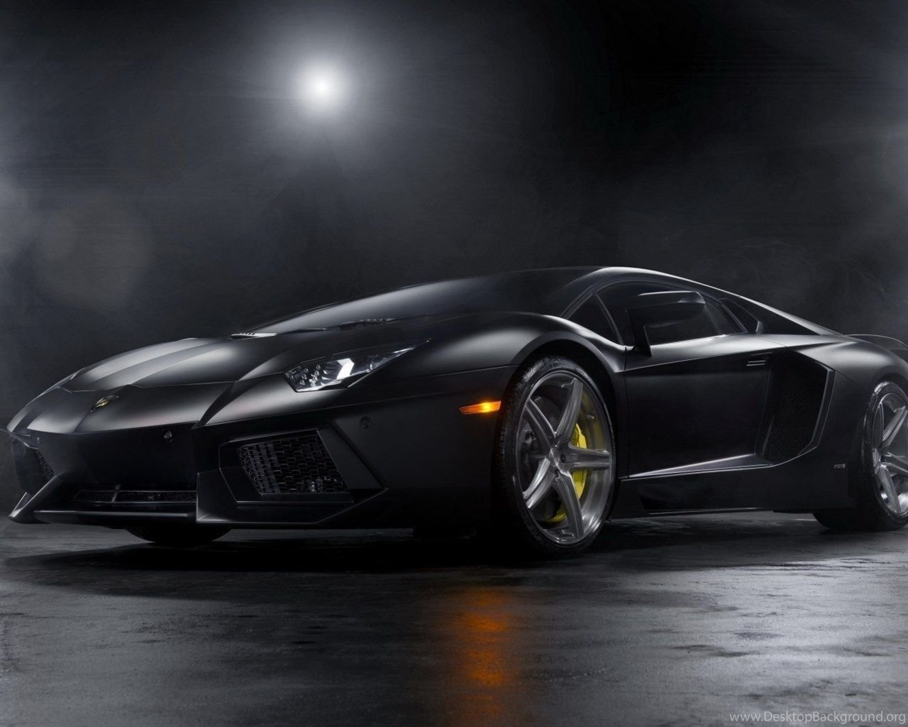 Matte Black Lamborghini Aventador Wallpapers Desktop Background