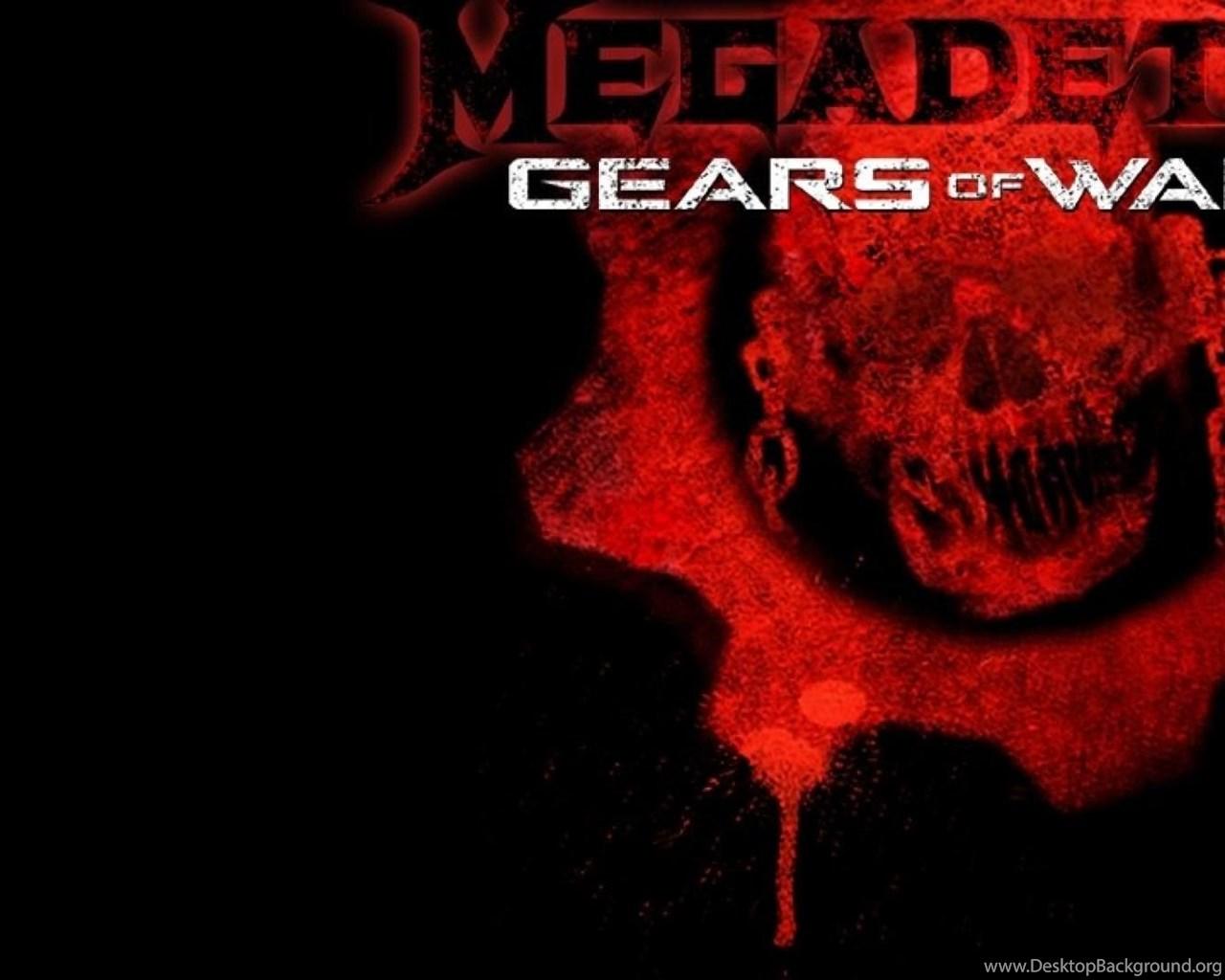Megadeath Gears Of War Games Logo Hd Wallpapers Desktop Background