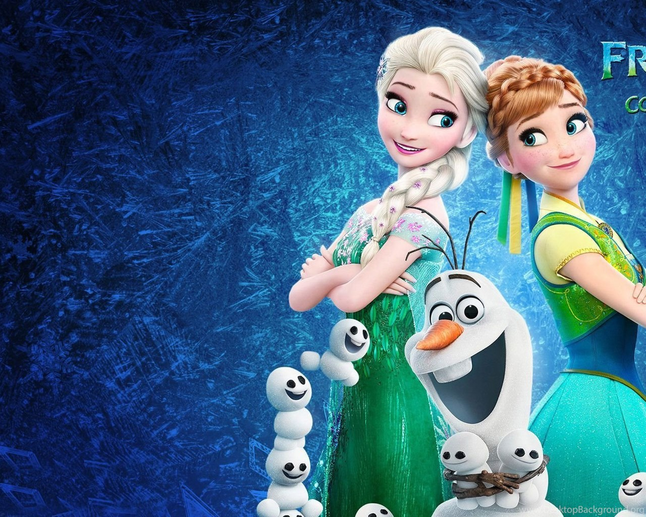 Anna elsa and olaf frozen wallpapers cartoon wallpapers - Frozen cartoon wallpaper ...
