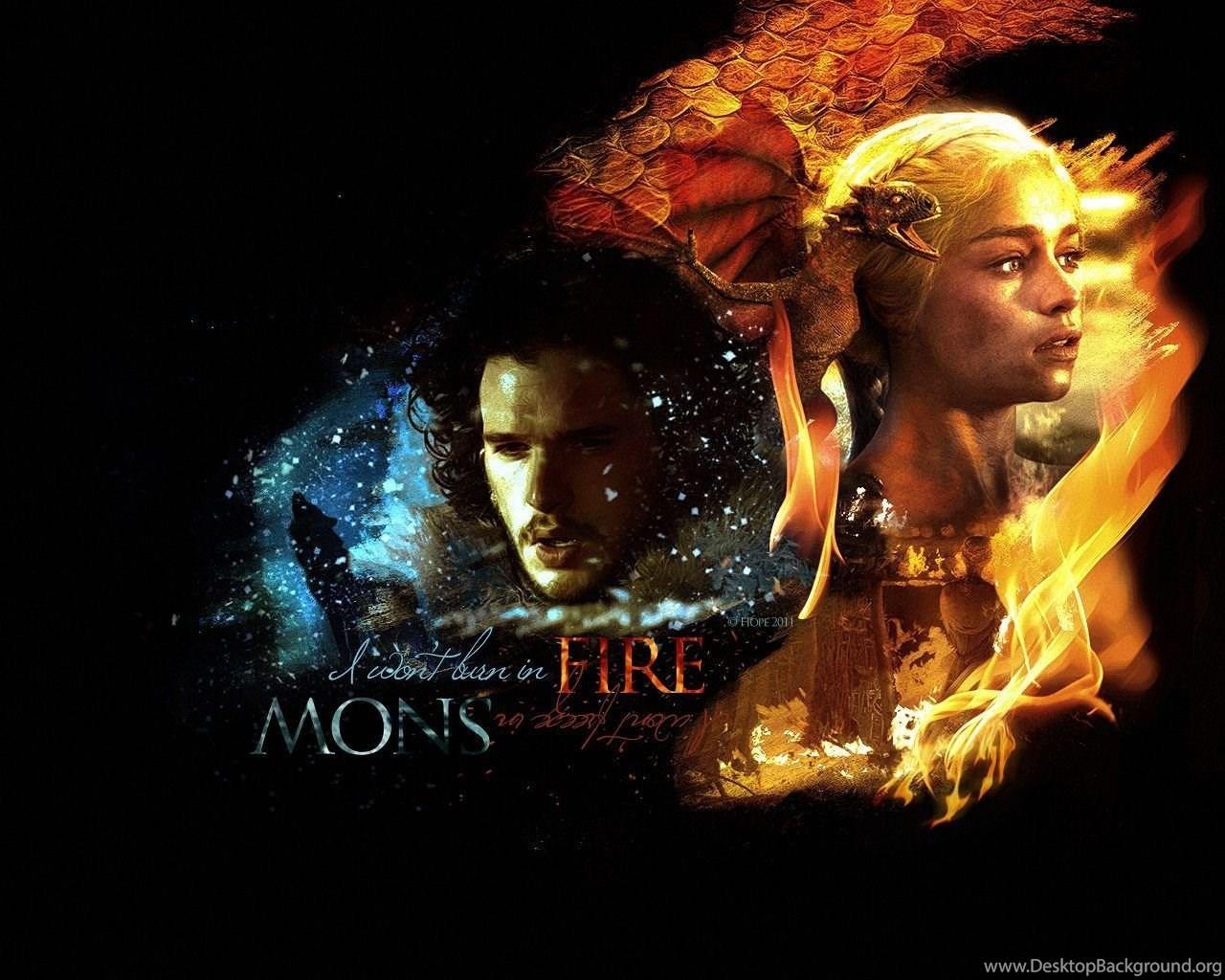 Daenerys Targaryen Jon Snow Game Of Thrones Wallpapers Desktop