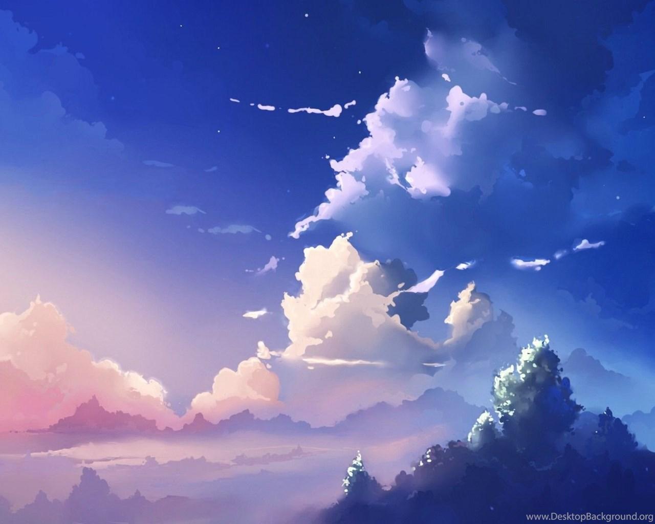 Anime Sky Scenery, Cloud Scenery 05 Desktop Background