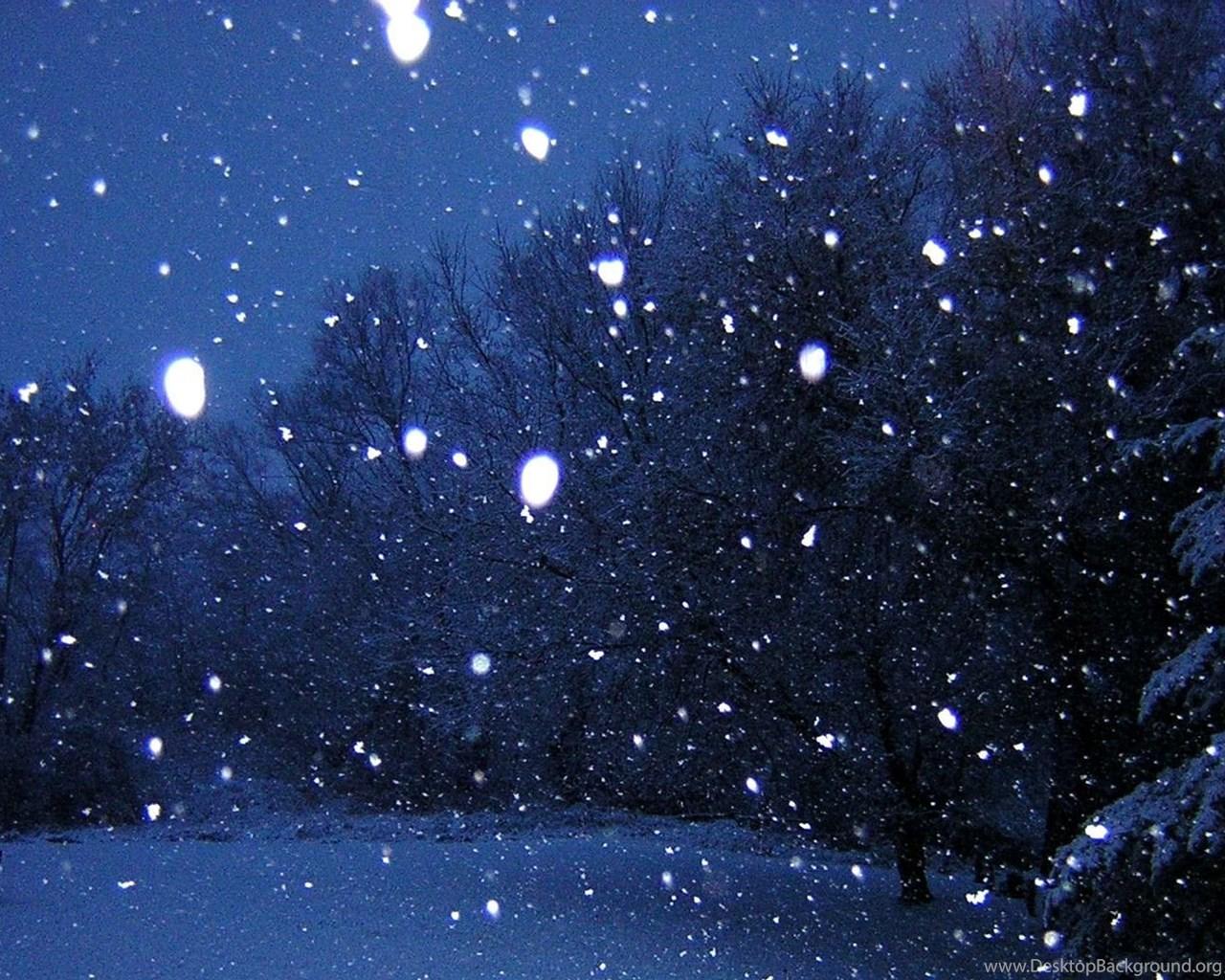 как сделать фото с падающим снегом также