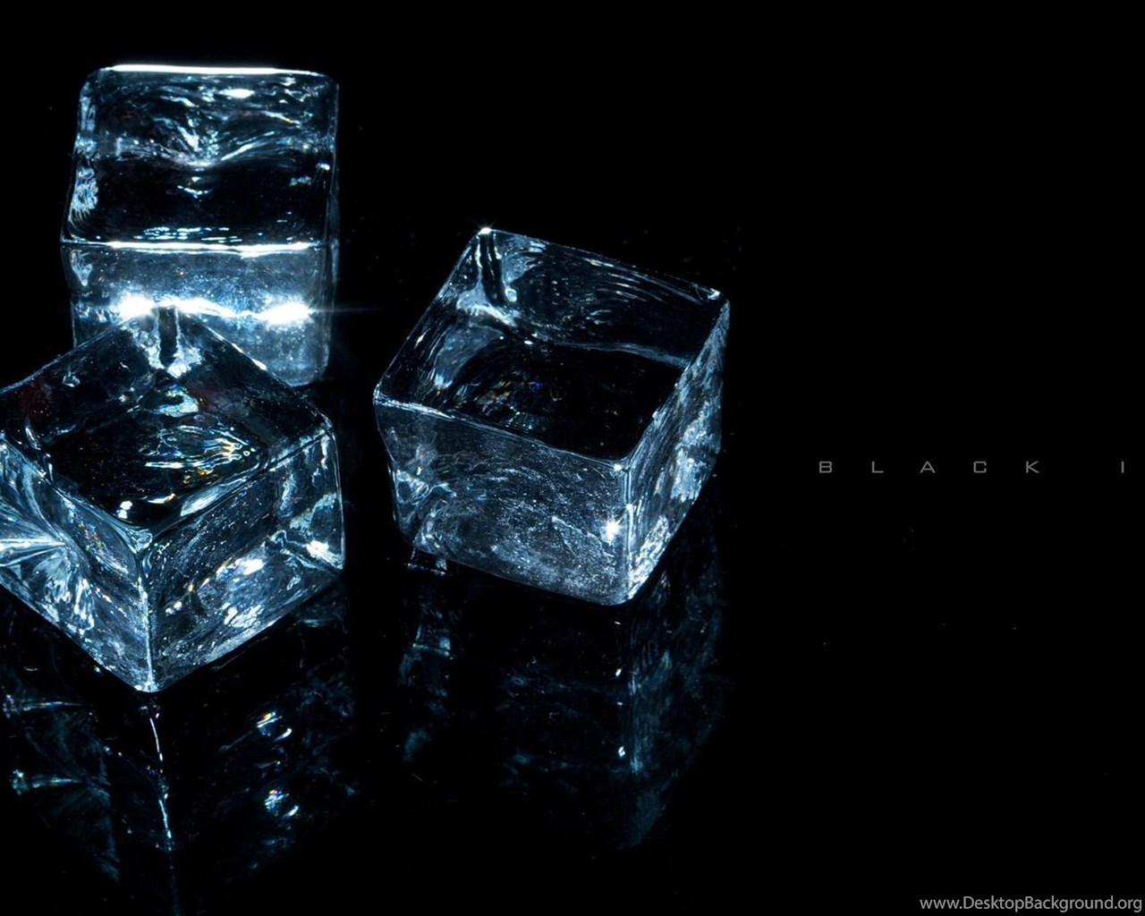 Black Ice Cubes Wallpaper Desktop Background