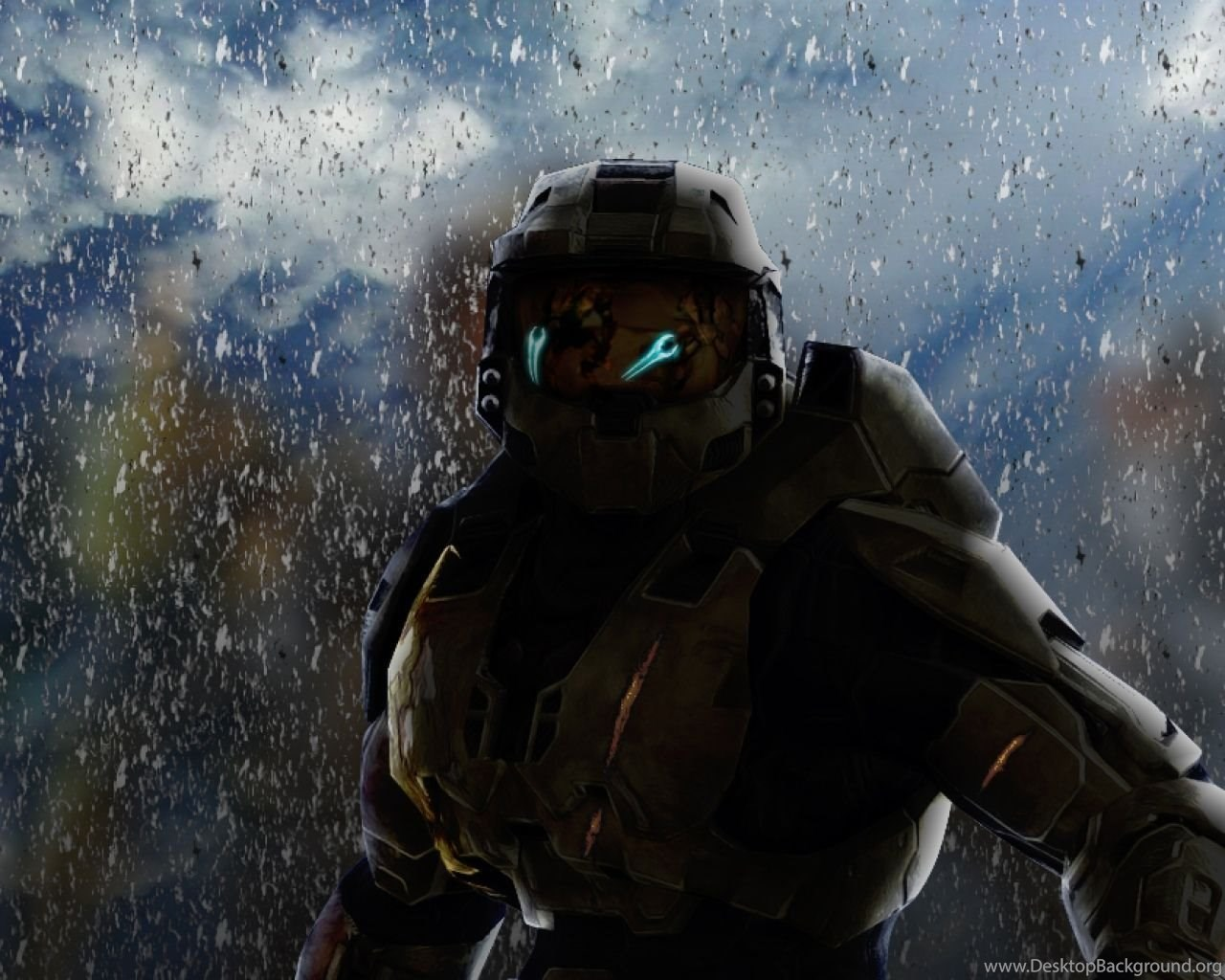 Download Wallpapers 2560x1024 Halo, Soldier, Armor, Look