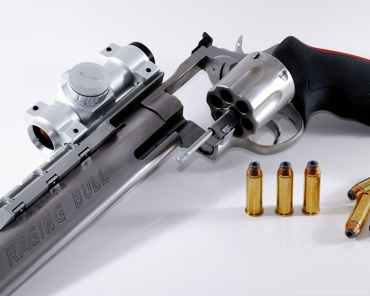 Download Wallpapers 1920x1080 Gun, Bullets, Metal, Weapons