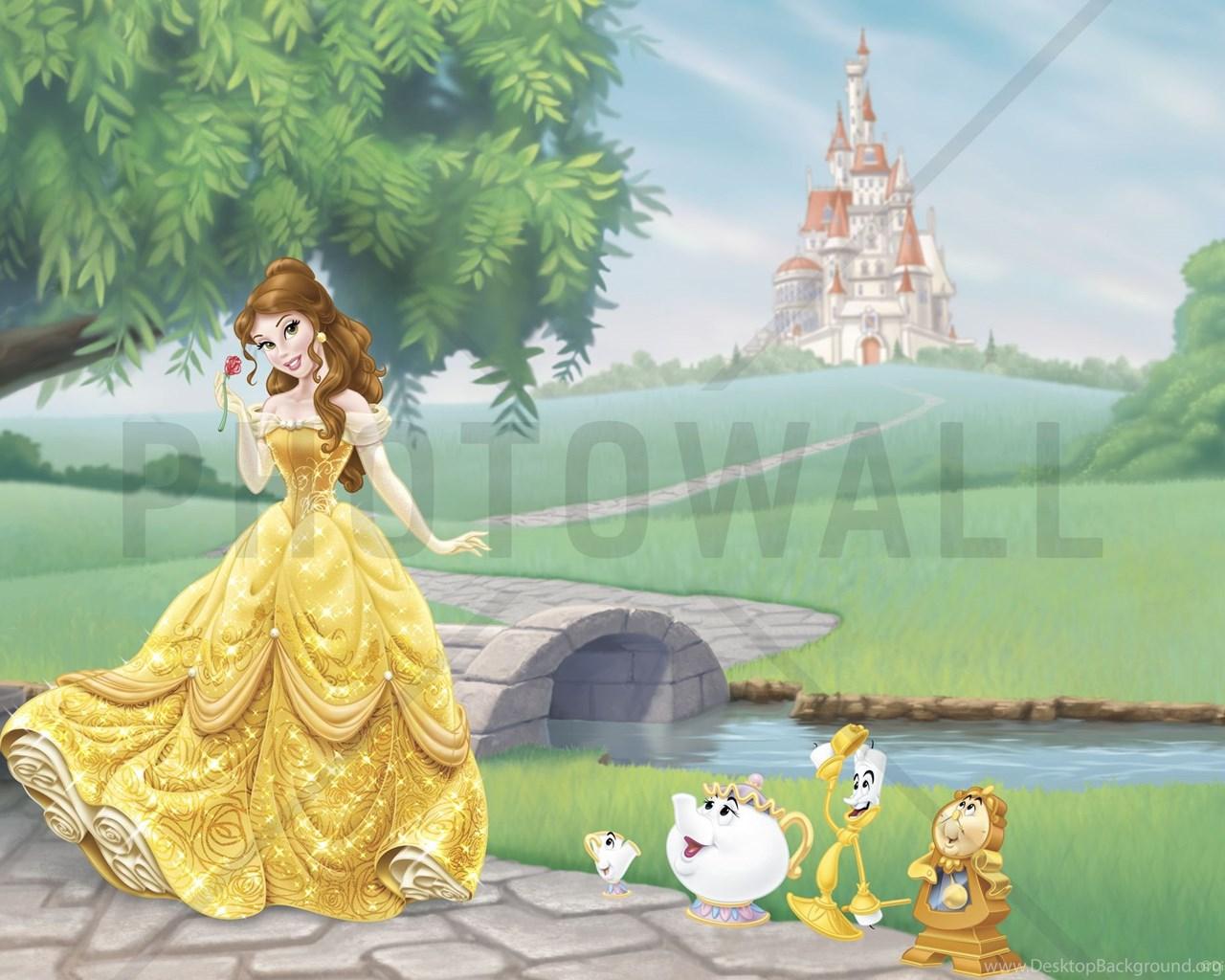Disney Princess Belle Wall Mural Photo Wallpapers Photowall Desktop Background