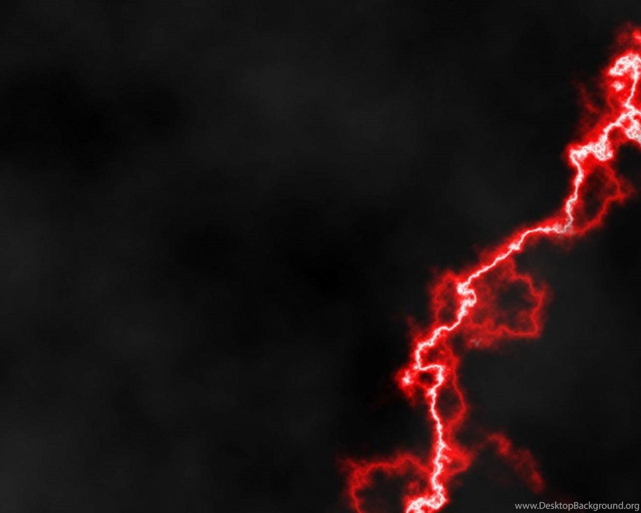 Red Lightning 10 Wallpapers Desktop Background