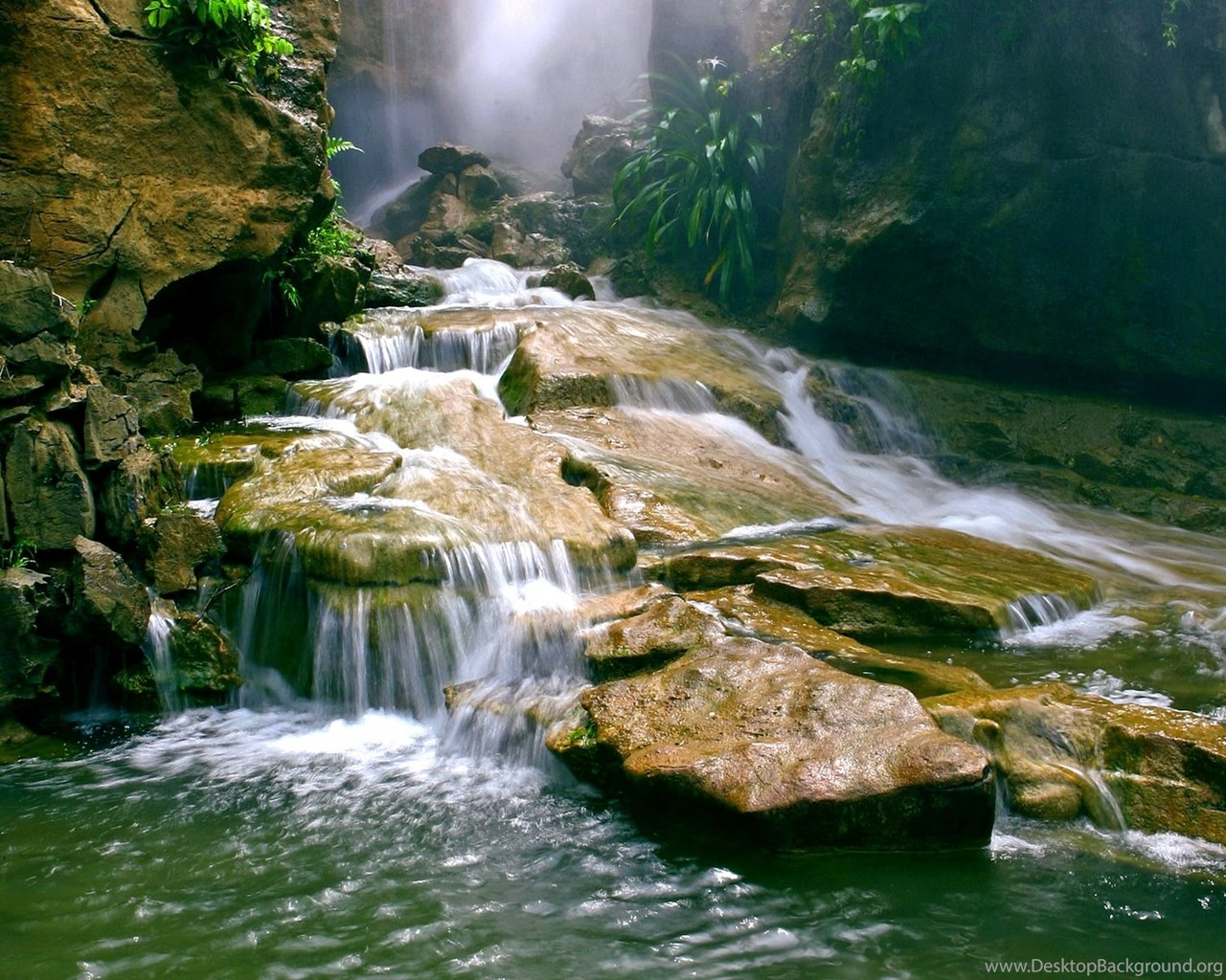 Fond Ecran Cascade Eaux Vives Nature Sauvage Wallpapers Hd Water Desktop Background