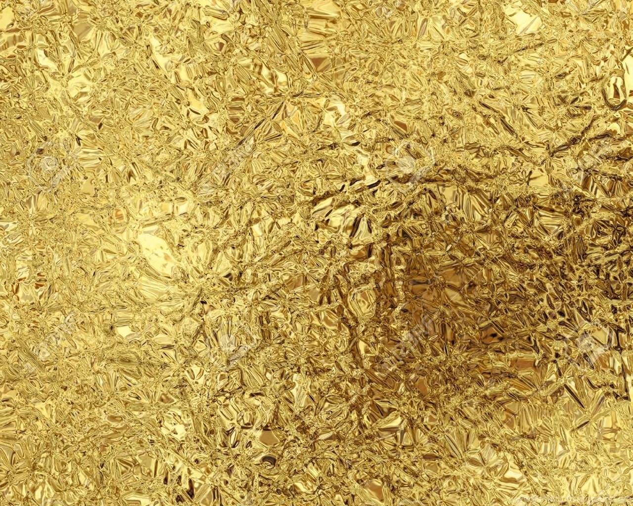 Gold Foil Texture Wallpaper Desktop Background
