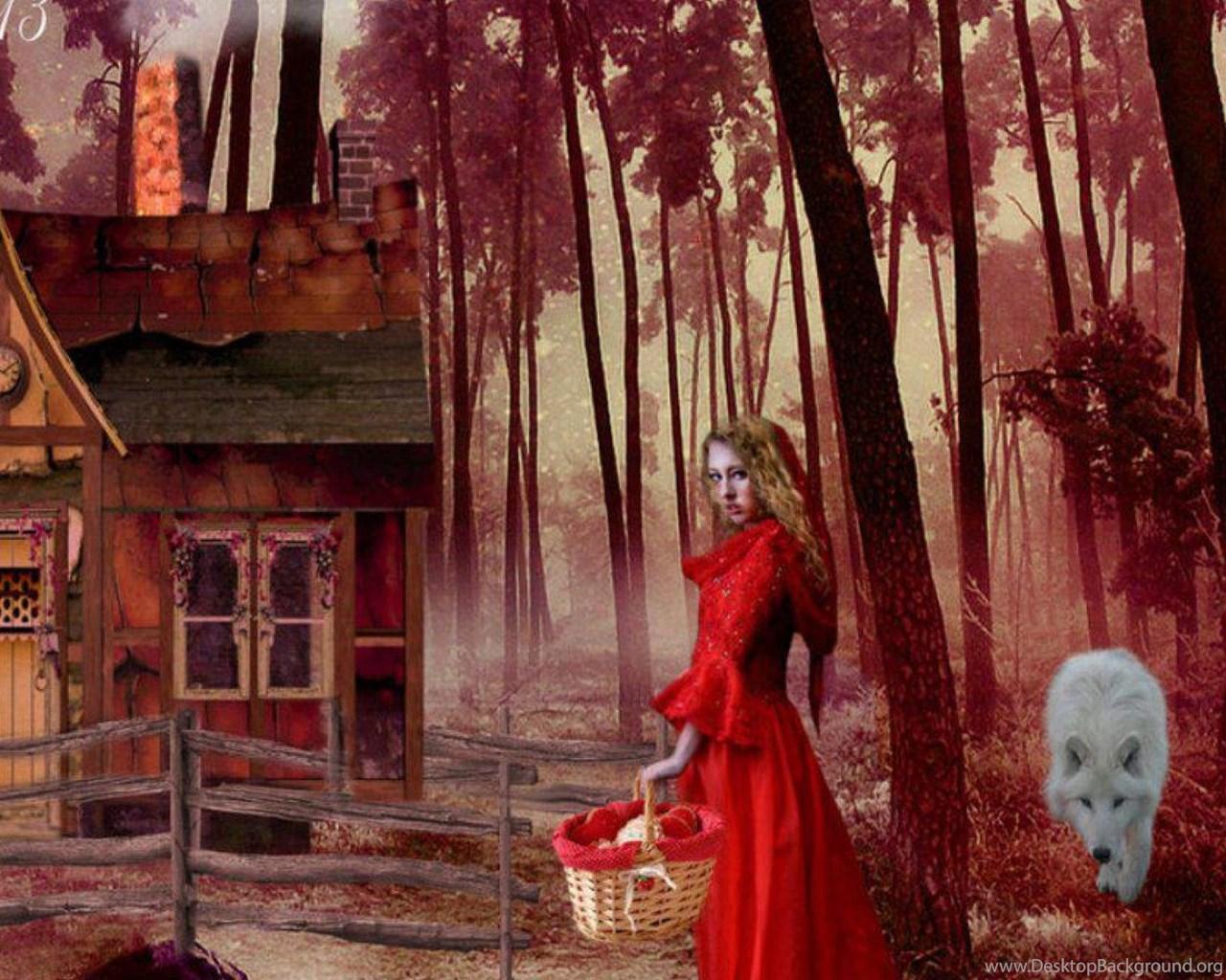 Little Red Riding Hood Wallpaper Desktop Background