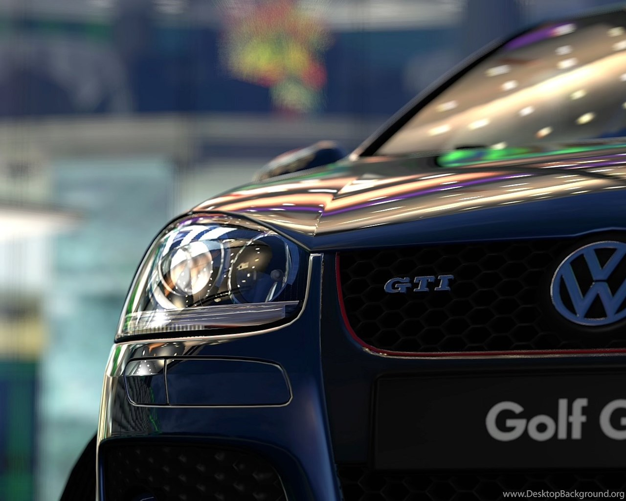 Wallpapers Vw Golf Vi Gti Tuning Gt V Red Bull Hangar Jpg