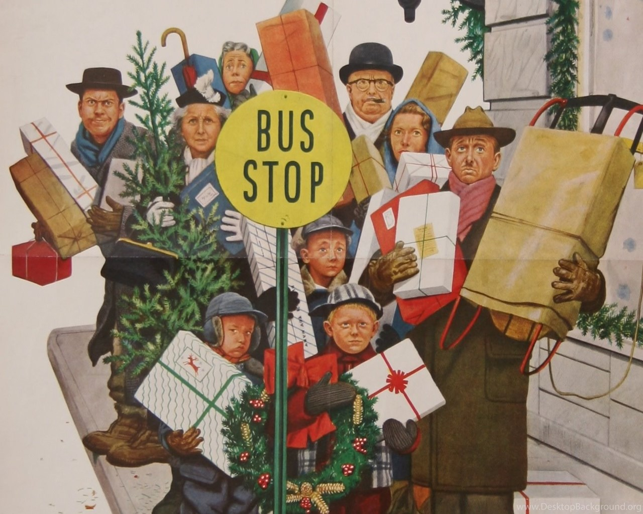 Norman Rockwell Christmas Pictures HD Wallpapers Pretty Desktop ...