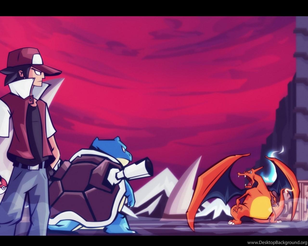 Pokemon Trainer Red Vs Blue Wallpapers Desktop Background