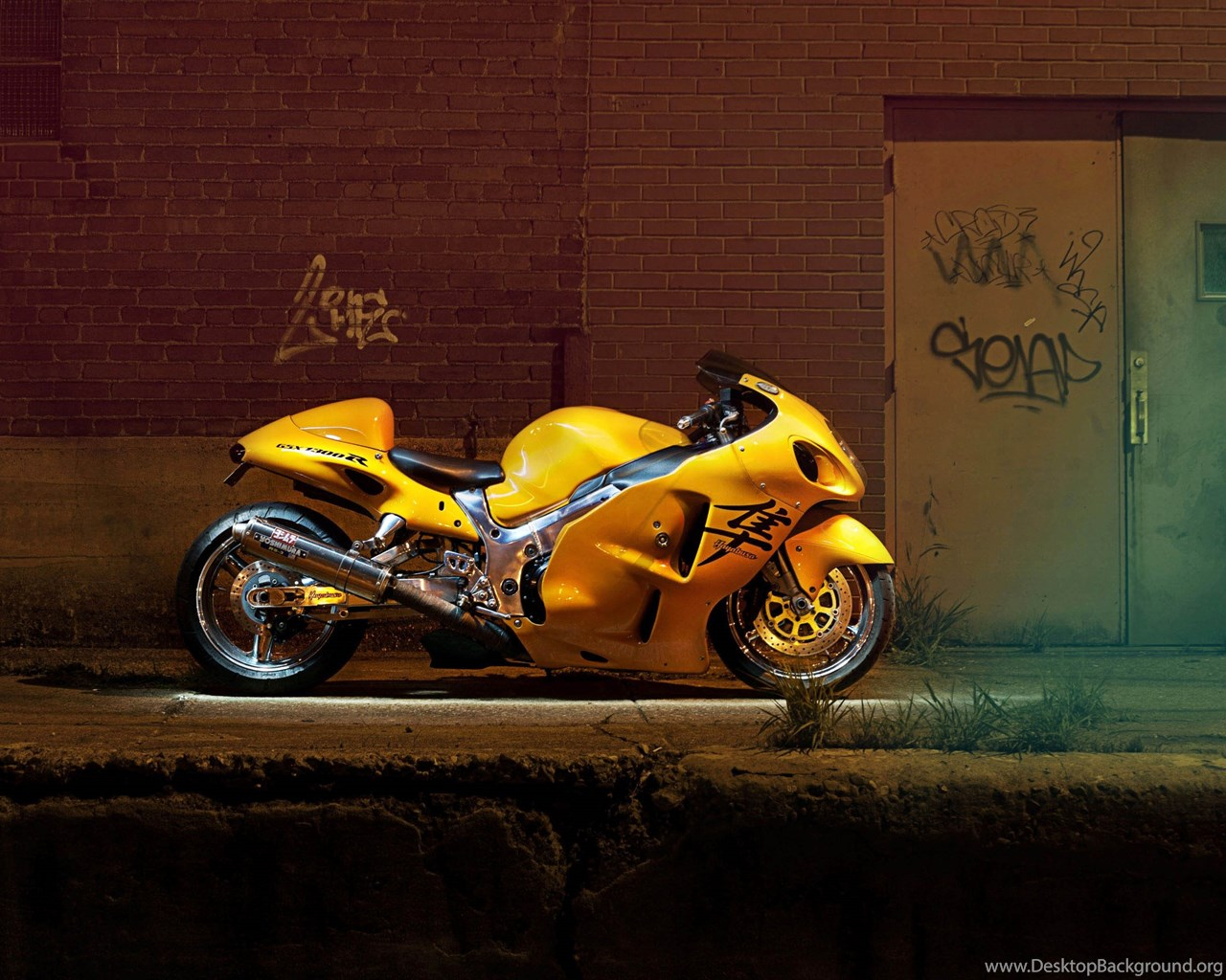 Yellow Suzuki Hayabusa Ready For Street Racing 3840x2160