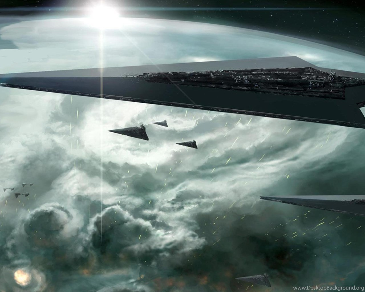 Science Fiction Star Wars Space Star Destroyer Wallpapers Hd Desktop Background