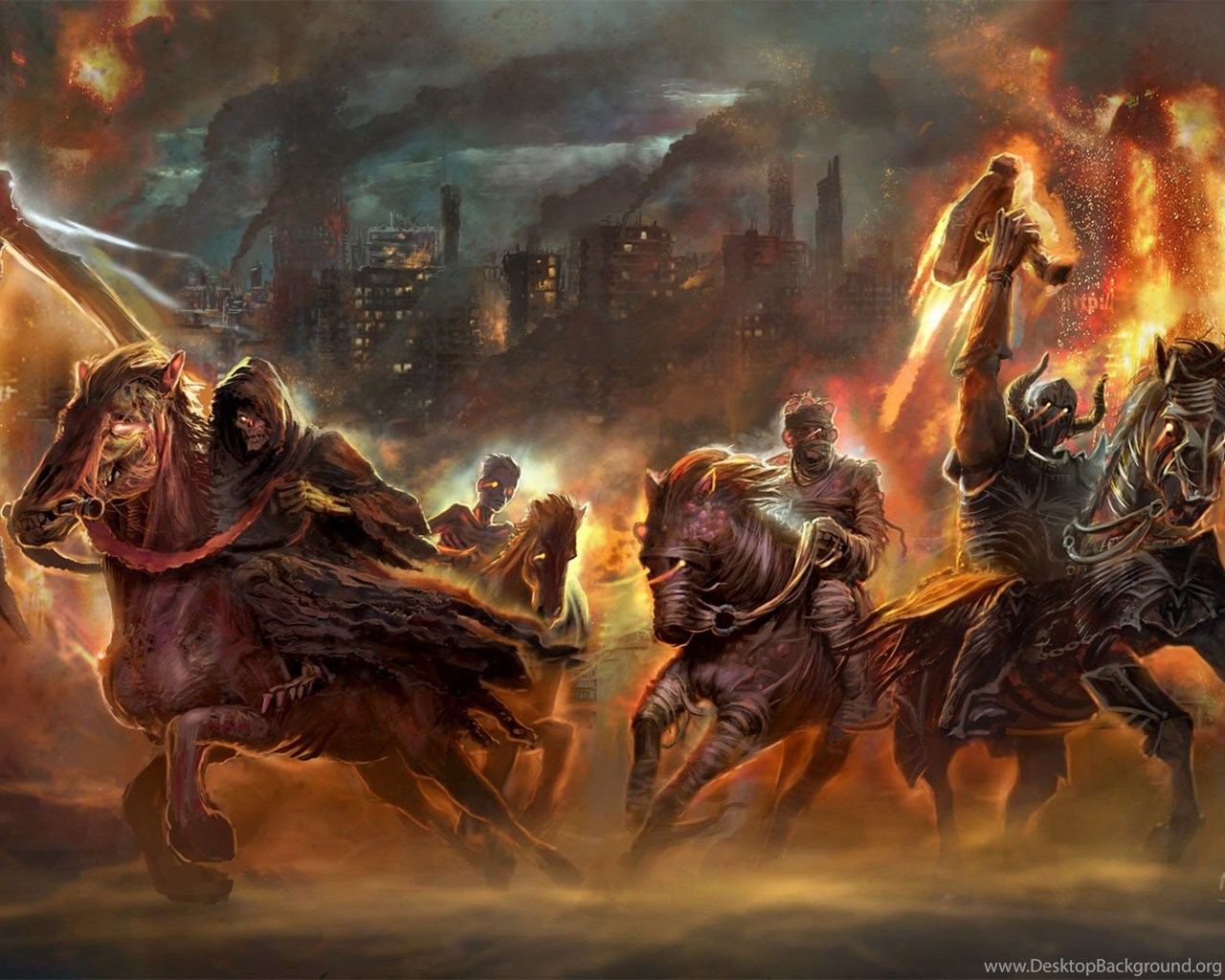 The Four Horsemen Of The Apocalypse Wallpapers Wallpapers Zone