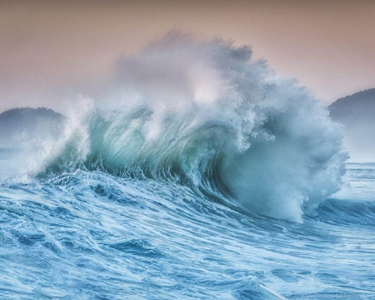 Oceans Wave Waves Sea Blue Free Desktop Wallpapers For High Desktop Background