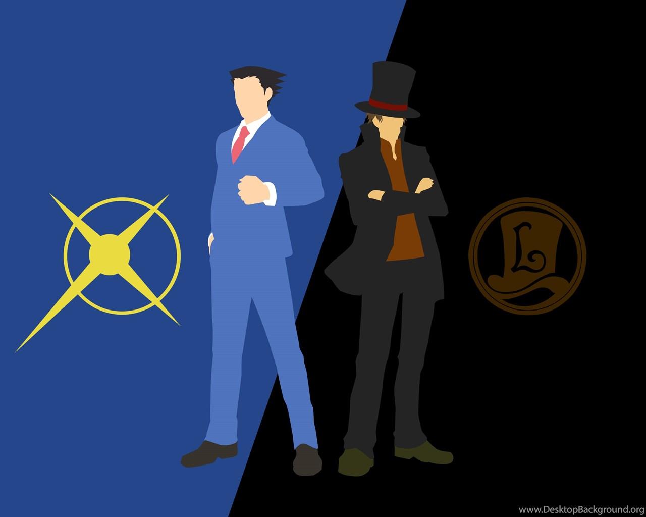 DeviantArt: More Like Professor Layton VS Phoenix Wright