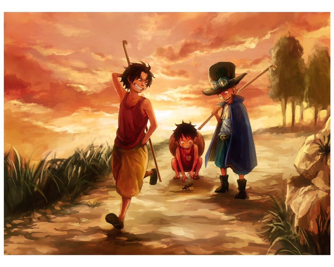 Luffy Ace And Sabo One Piece Wallpapers Desktop Background